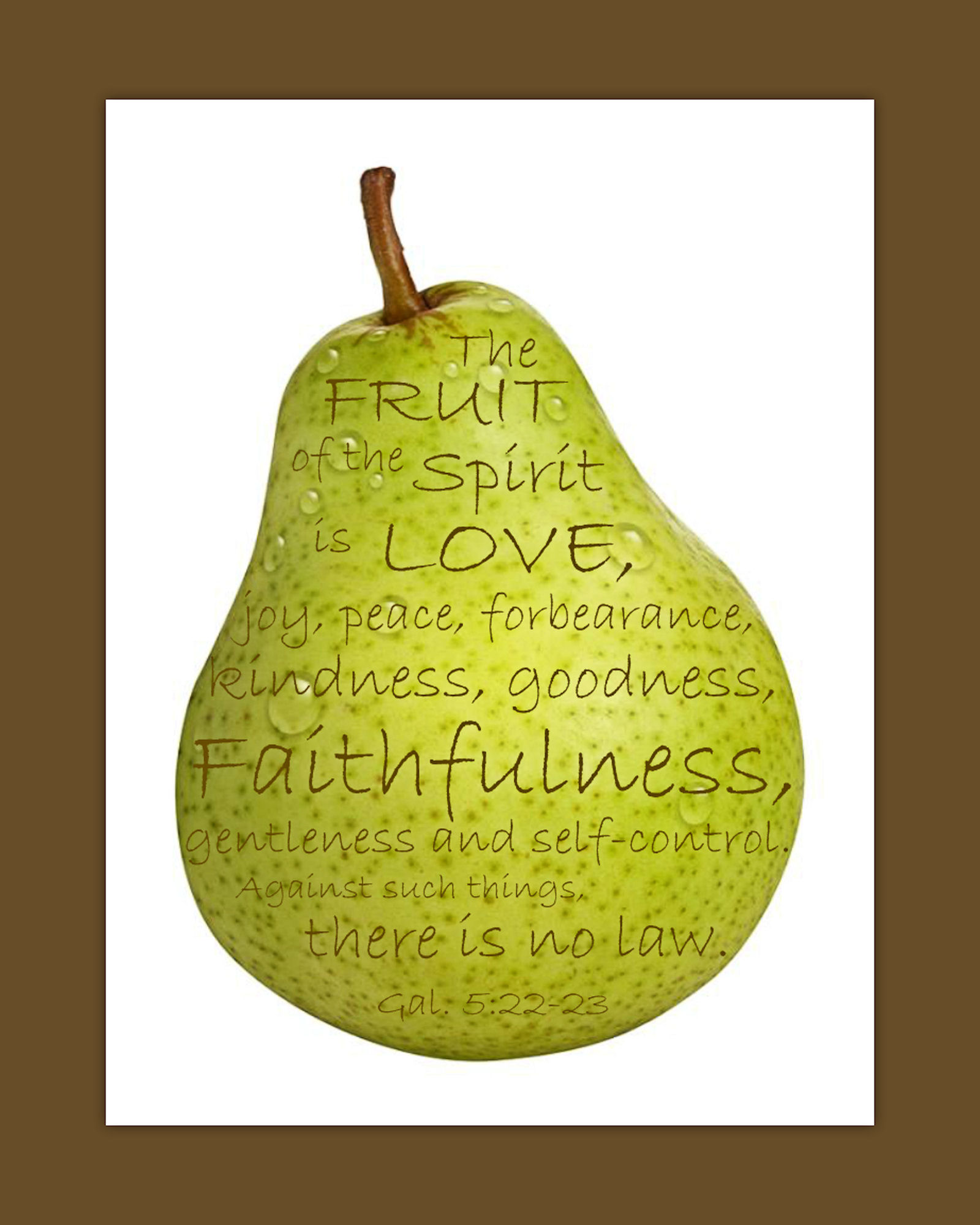 Fruit of the Spirit - Free Printable   Laughter and Grace
