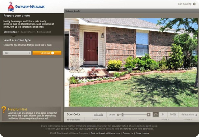 Sherwin Williams Color Visualizer 1