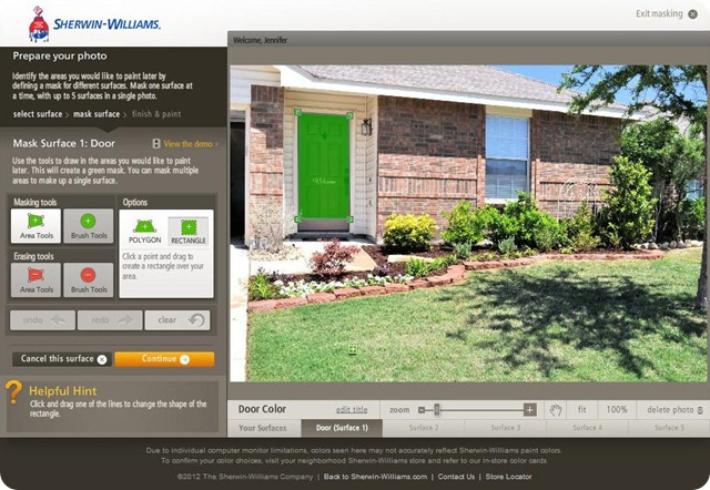 Sherwin Williams Color Visualizer 2