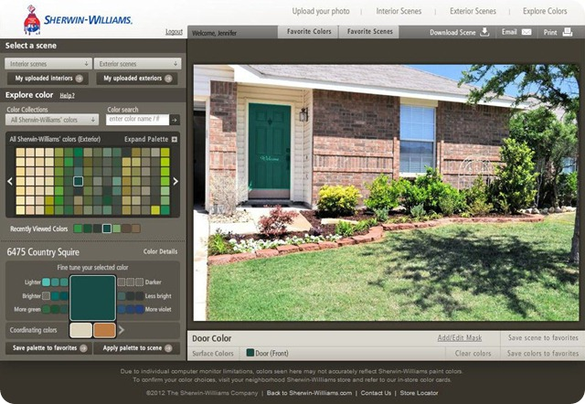 Sherwin Williams Color Visualizer County Squire