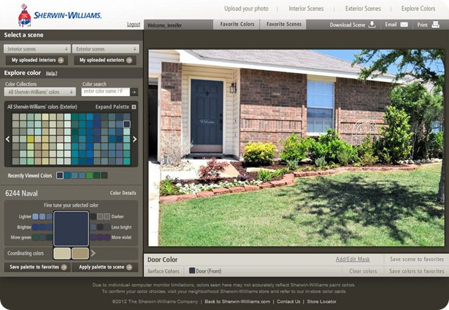 Sherwin Williams Color Visualizer Navel