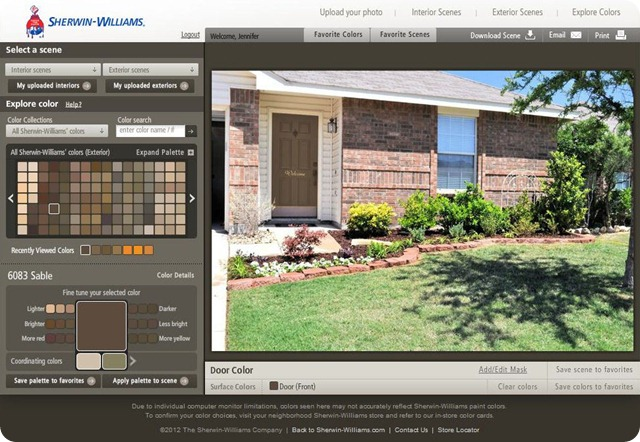Sherwin Williams Color Visualizer Sable